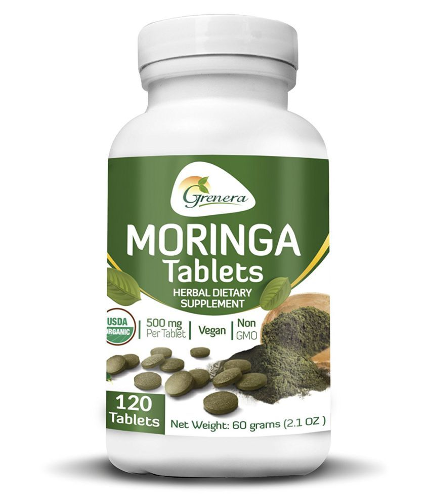 Grenera Raw Bio Moringa 500 mg 120 tablet